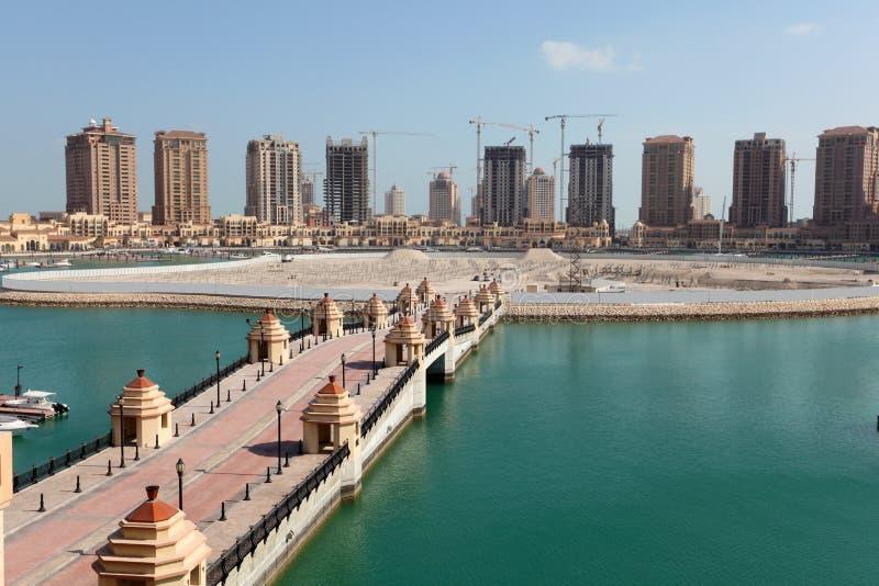 波尔图阿拉伯半岛。多哈,卡塔尔 免版税库存照片