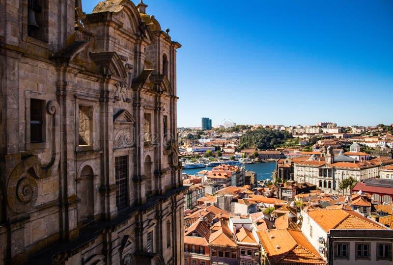 波尔图,葡萄牙地平线,Miradouro视图 免版税图库摄影