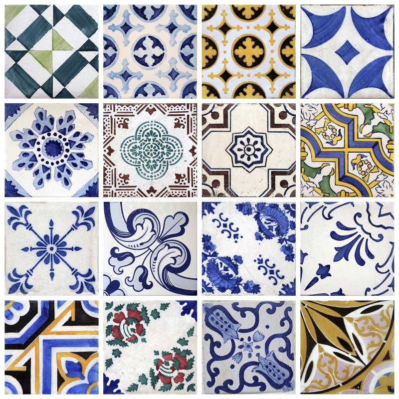 从波尔图,葡萄牙的传统瓦片 库存图片