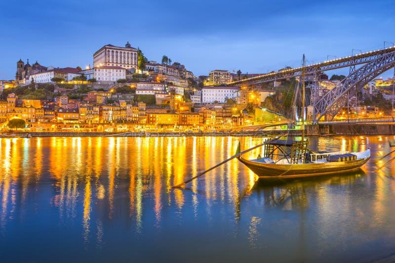 波尔图,葡萄牙都市风景 免版税库存图片
