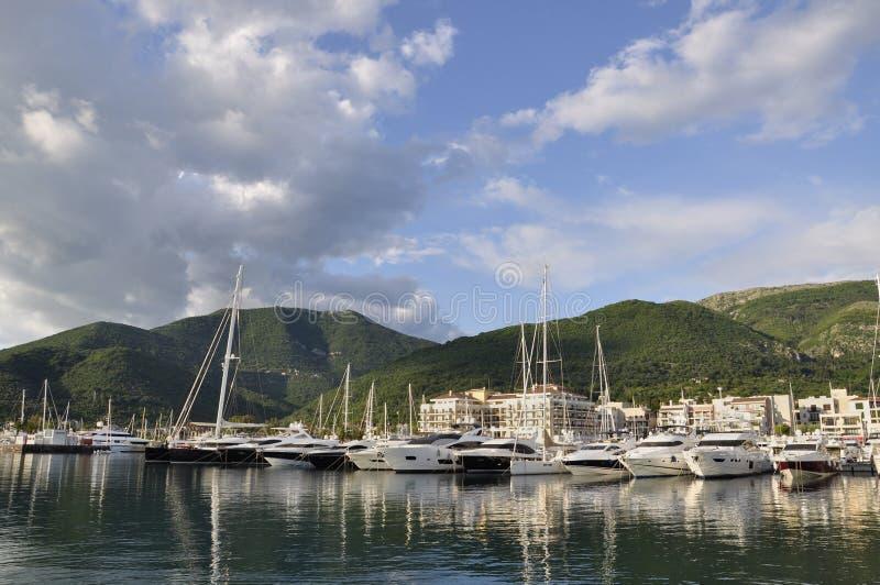 波尔图黑山,蒂瓦特看法市 免版税库存图片