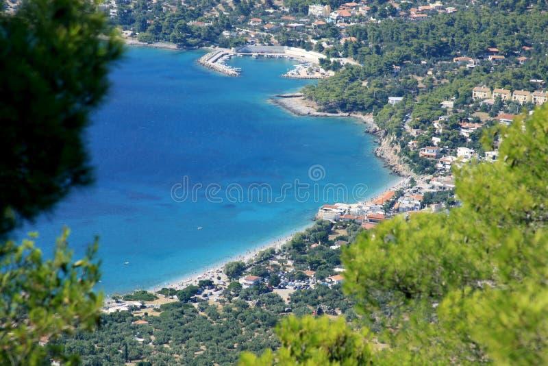 波尔图Germeno海滩,雅典,希腊 免版税库存图片