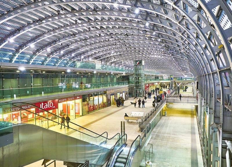 波尔塔Nuova火车站 意大利山麓都灵 库存照片