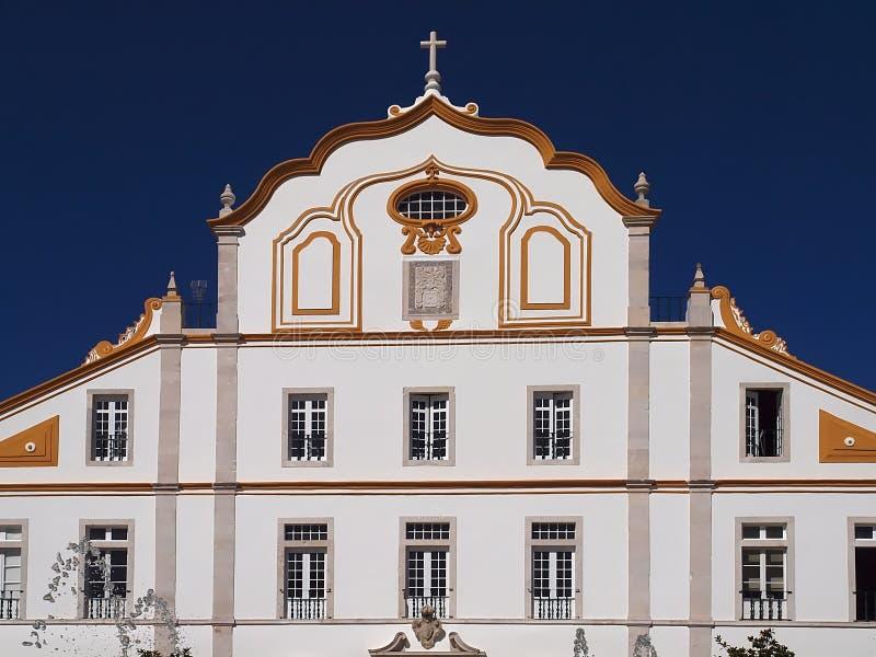 波尔蒂芒印象深刻的城镇厅在葡萄牙 免版税库存图片