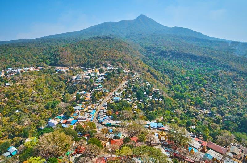 波帕岛山,缅甸 免版税库存图片