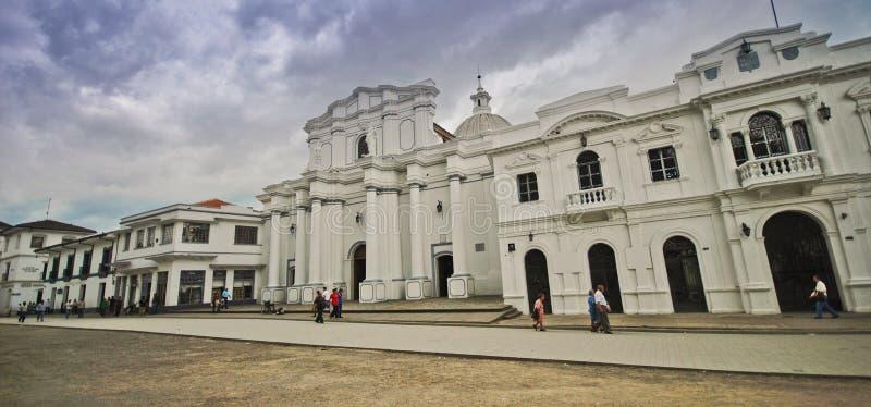 波帕扬,哥伦比亚街道  免版税库存照片