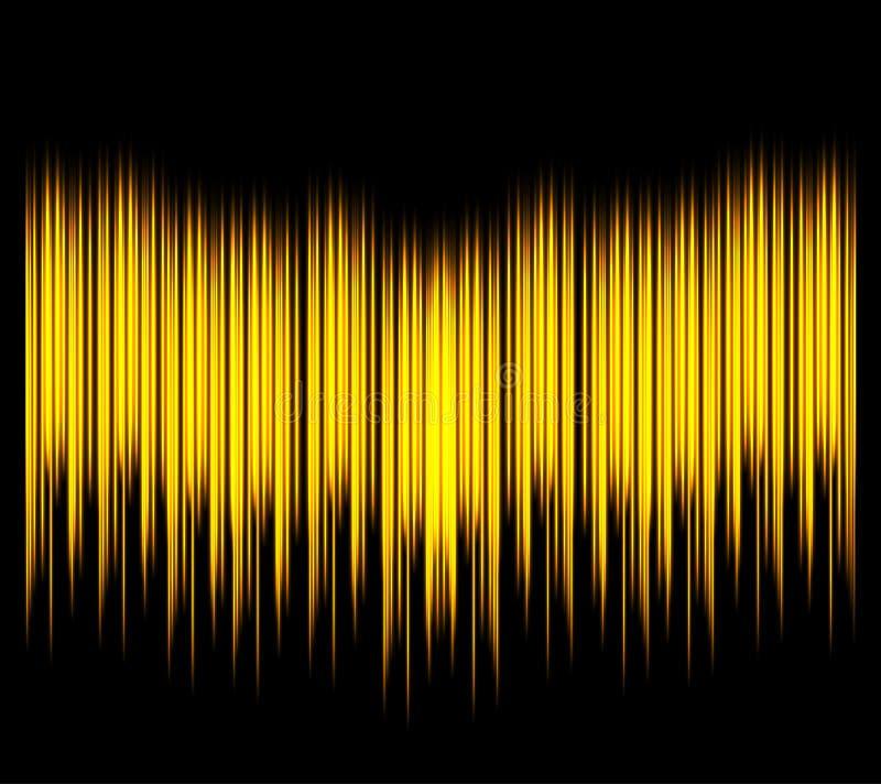 波形形式 导航俱乐部、收音机、党、音乐会或者音频技术广告的例证 向量例证