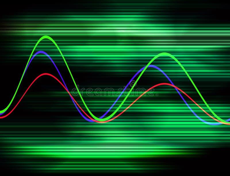 波形形式19 向量例证