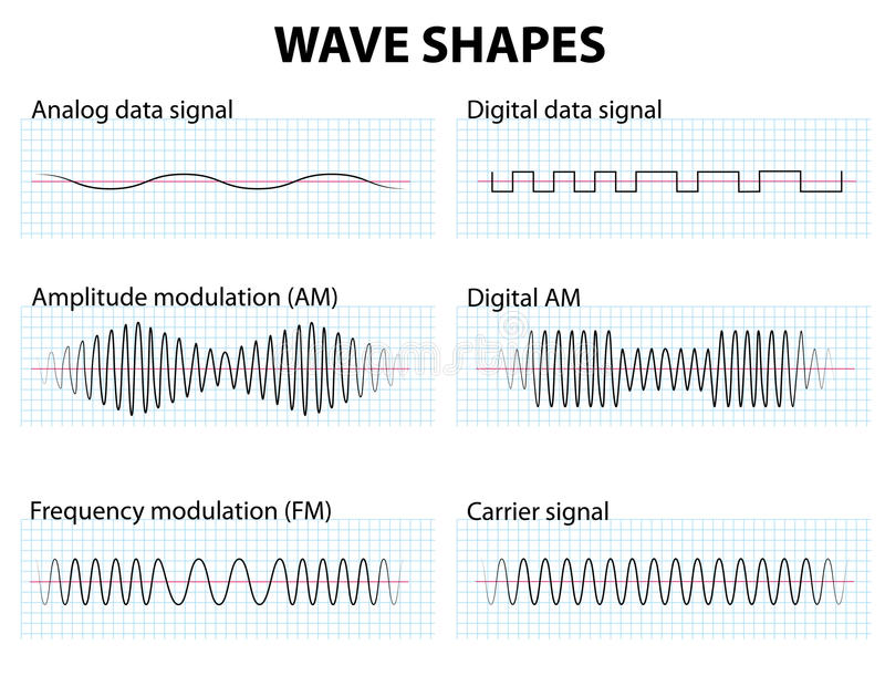 波形 向量例证