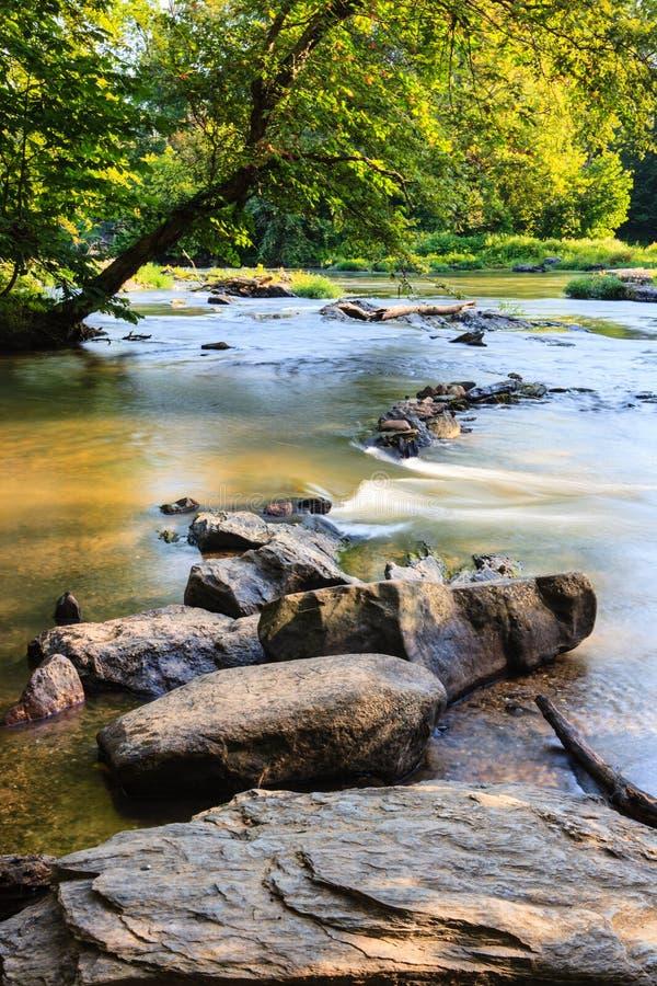 波托马克河,塞内卡秋天,弗吉尼亚 图库摄影