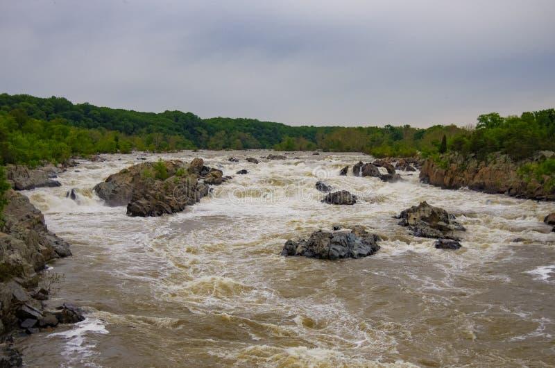 波托马克河,大瀑布州立公园,弗吉尼亚 库存图片