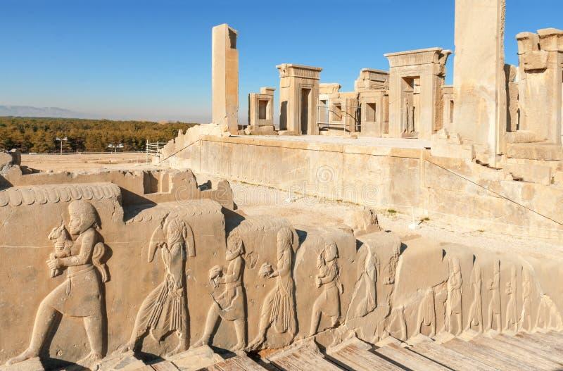 波斯人的波斯波利斯古老首都 免版税库存图片