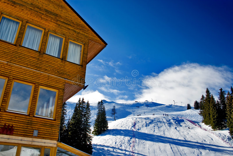 波斯尼亚中心hercegovina jahorina滑雪 库存图片