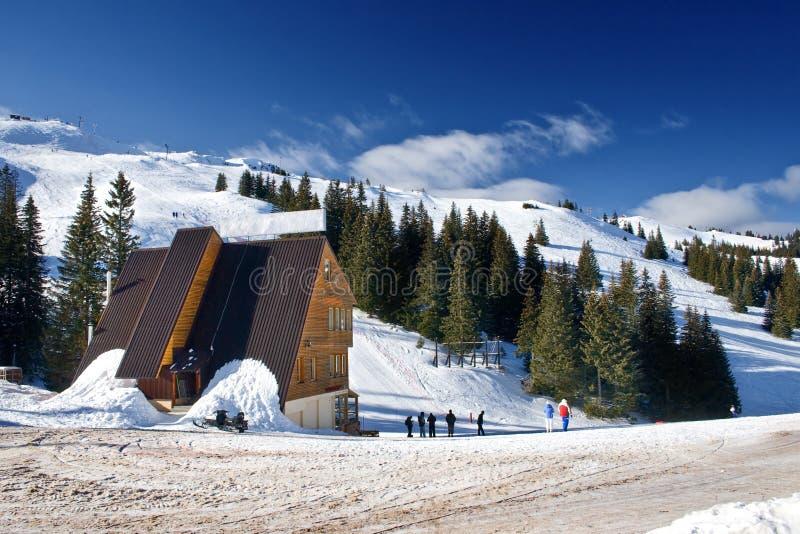 波斯尼亚中心hercegovina jahorina滑雪 图库摄影