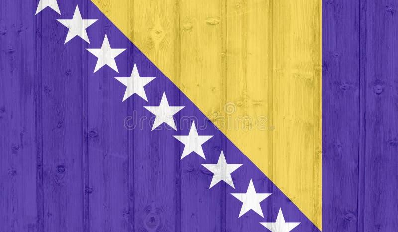 波斯尼亚旗子 皇族释放例证