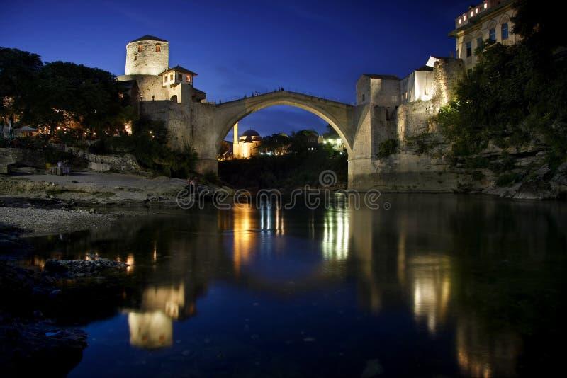 波斯尼亚桥梁老黑塞哥维那莫斯塔尔&# 库存照片