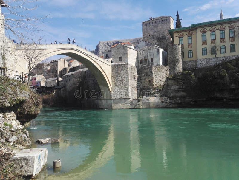 波斯尼亚桥梁黑塞哥维那老莫斯塔尔 免版税库存照片