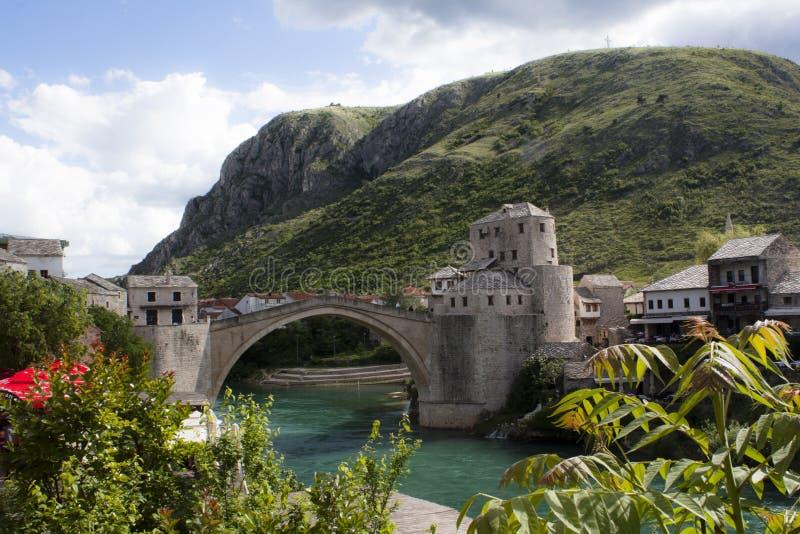 波斯尼亚桥梁hercegovina莫斯塔尔 免版税库存照片