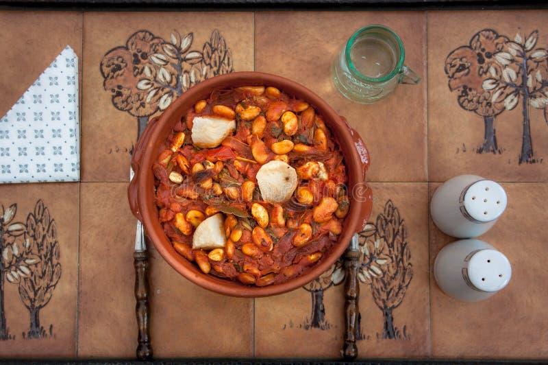 波斯尼亚食物,特托瓦茨,烤豆 免版税图库摄影