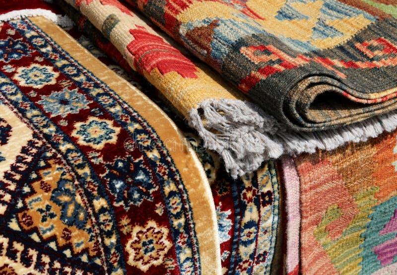 波斯类型地毯并且kilim类型 库存图片