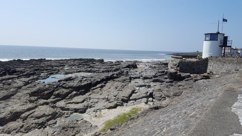 波斯考尔海岸线南威尔士 库存照片