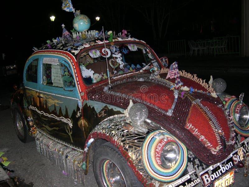 波旁街沙地汽车支柱,新奥尔良路易斯安那 库存照片