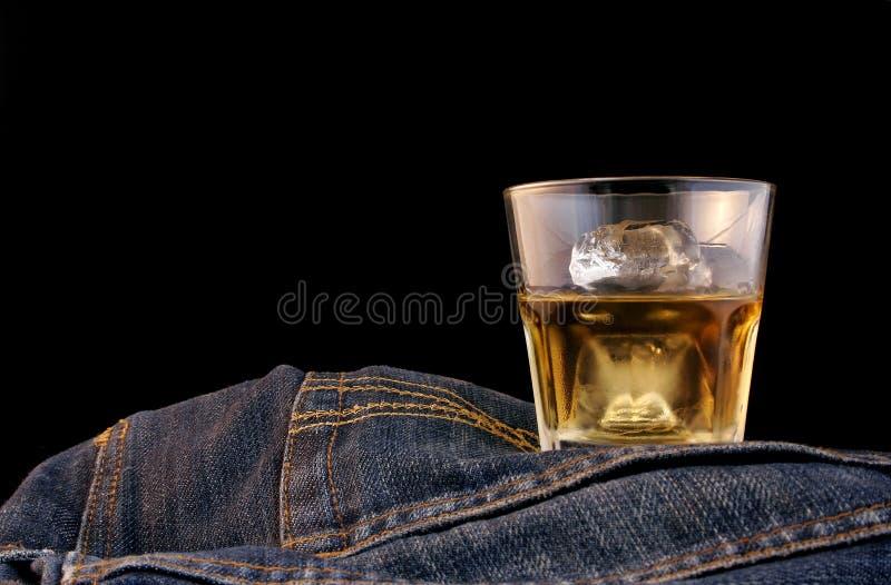 波旁酒牛仔布 免版税图库摄影