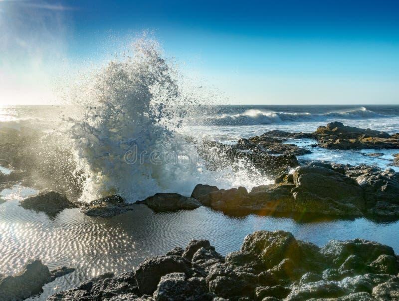 波浪从托尔` s很好爆炸 库存照片