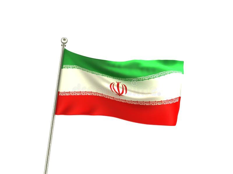 波浪伊朗旗子 皇族释放例证