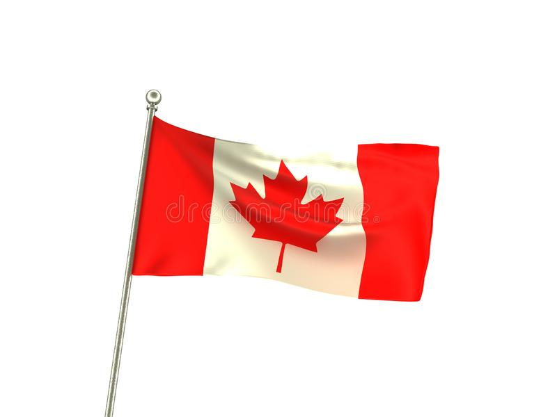 波浪加拿大旗子 皇族释放例证