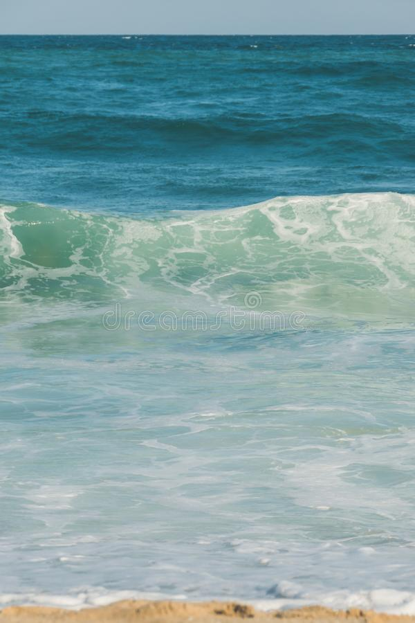 波浪和泡沫水,黑海 免版税图库摄影