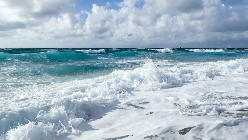 波浪在大西洋海岸的佛罗里达 库存图片