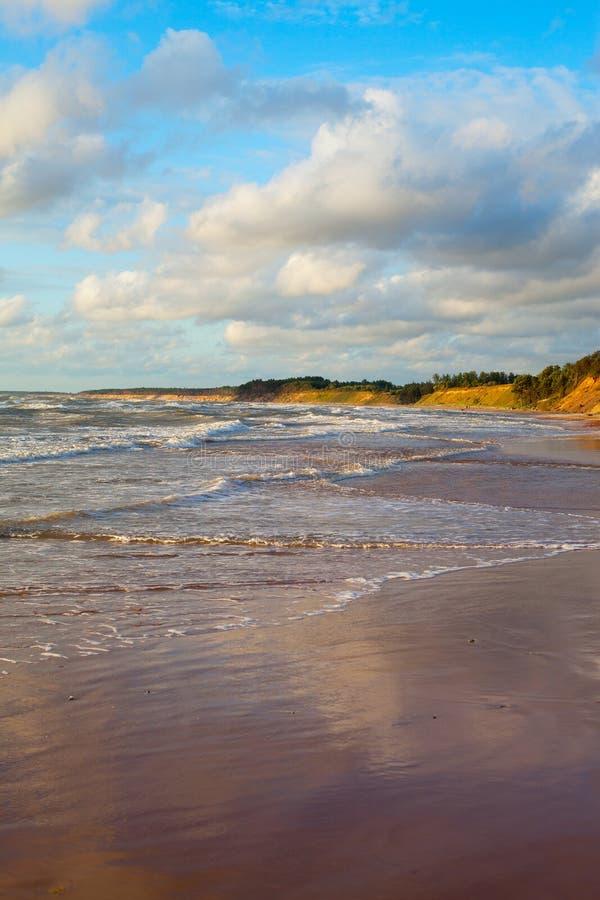 波浪在波罗的海。 库存照片