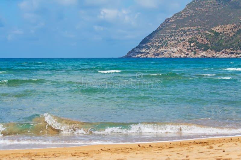 波浪在耶老岛的波尔图 库存照片