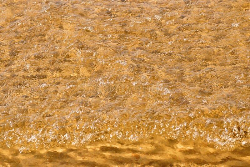波浪在顶视图的海海滩 免版税图库摄影