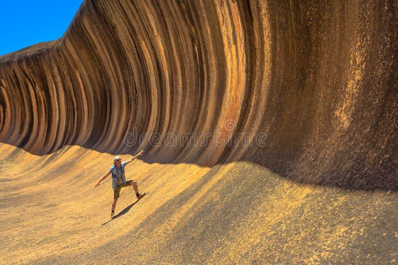 波浪岩石冲浪 库存图片