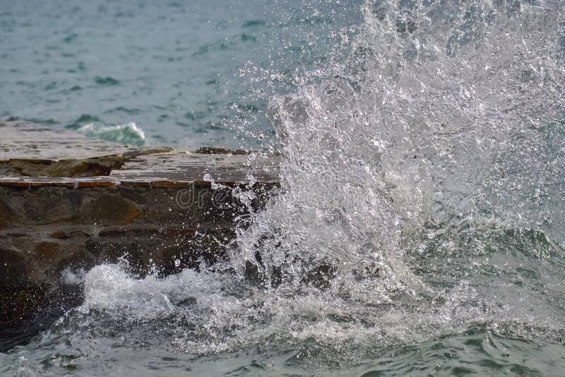 波浪崩溃的细节 免版税图库摄影