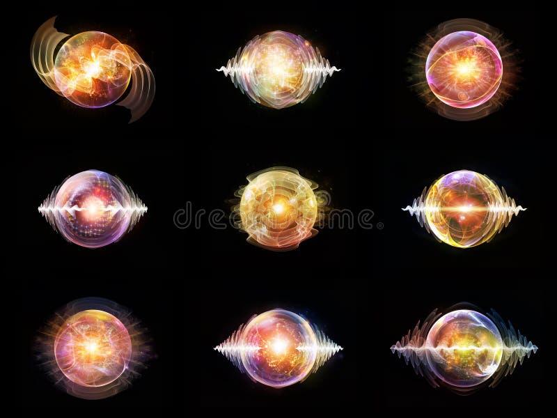 波浪微粒光  向量例证