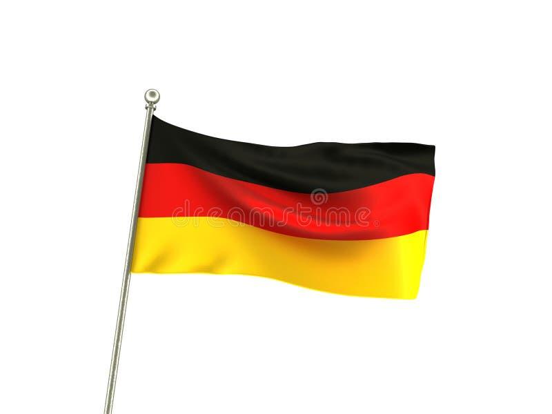 波浪德国旗子 皇族释放例证