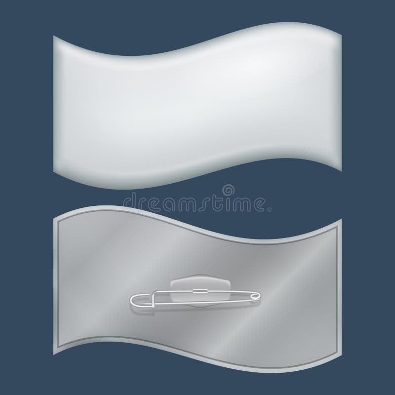 波浪徽章大模型,现实样式 皇族释放例证