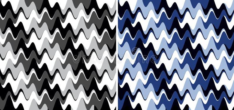 波浪抽象的纹理 库存例证