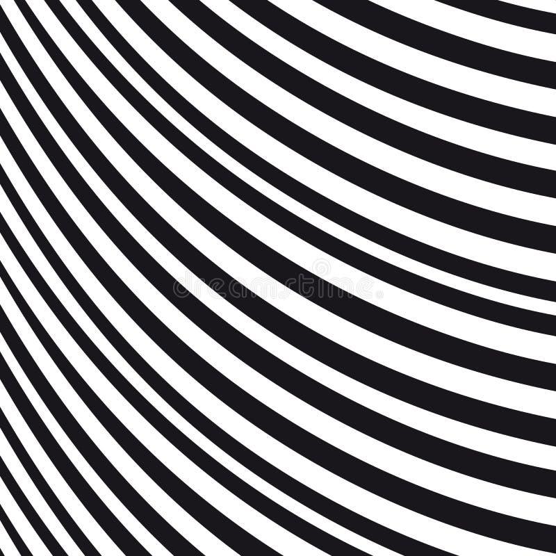 波浪抽象的背景 黑色模式白色 向量例证