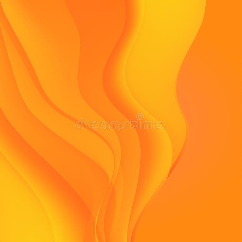 波浪抽象的背景 设计的五颜六色的焕发梯度表面 库存例证