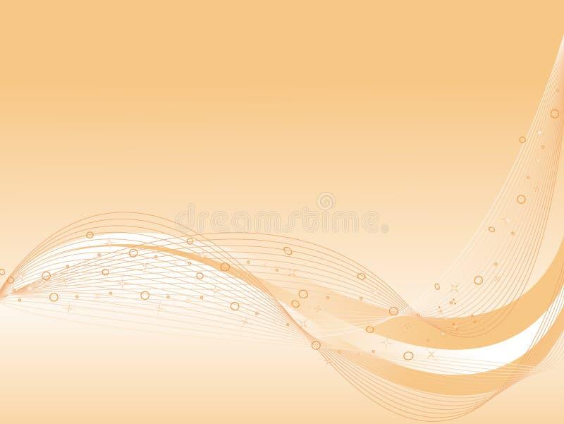 波浪抽象背景曲线的向量 向量例证