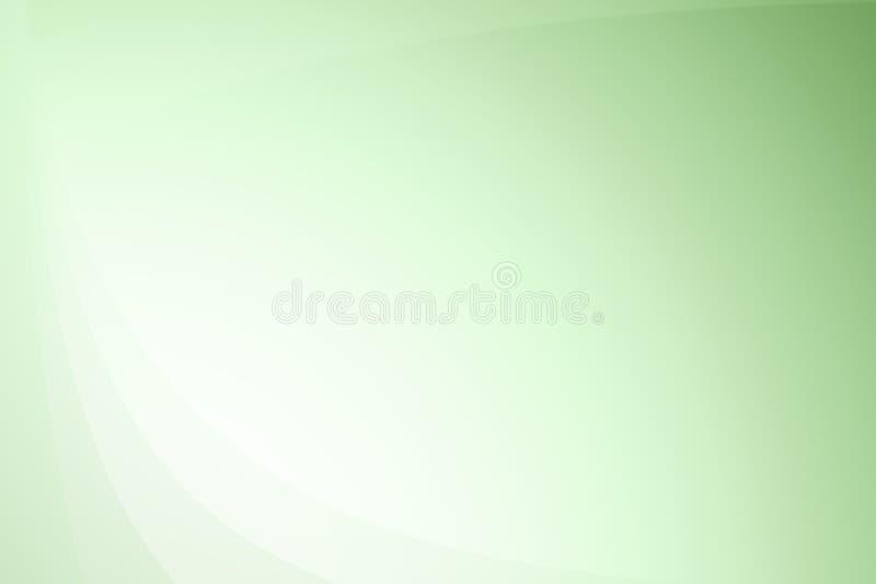 波浪抽象背景梯度的绿色 皇族释放例证