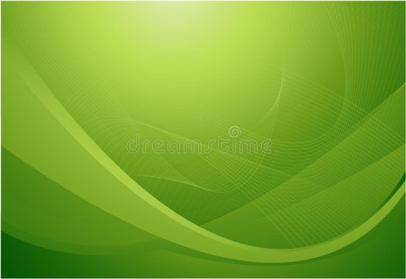 波浪抽象背景的绿色 皇族释放例证