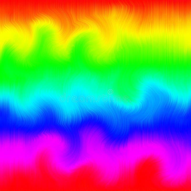 波浪毛茸的荧光的瓦片 向量例证
