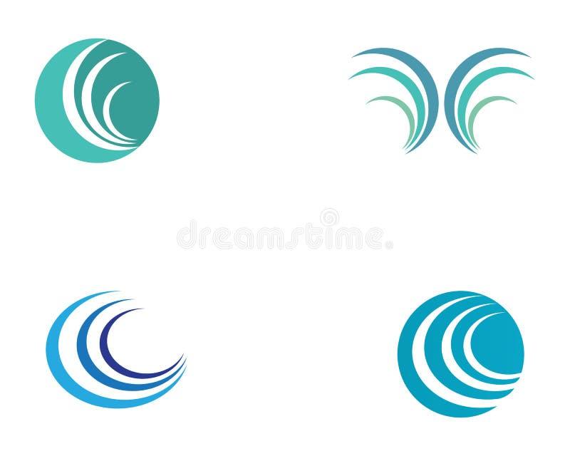 波浪水商标海滩 皇族释放例证