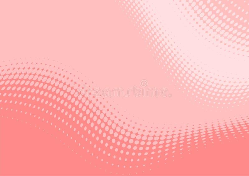 波浪淡色模式的粉红色 向量例证