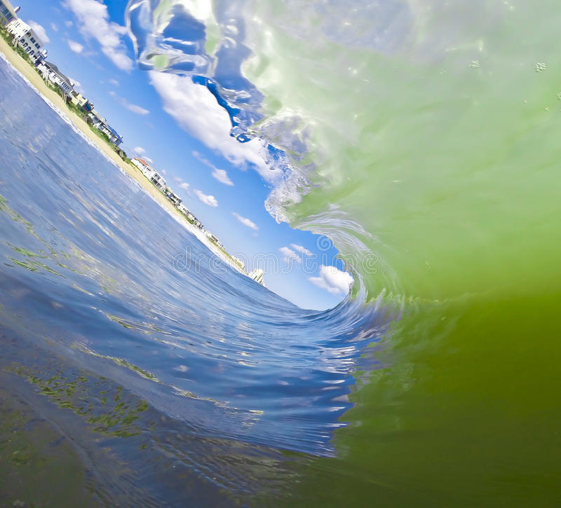 波浪漩涡 图库摄影